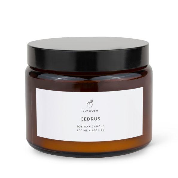 Świeca sojowa CEDRUS 400 ml